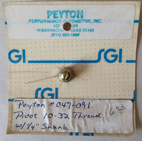 Peyton #047-091 Pivot 10-32 Thread