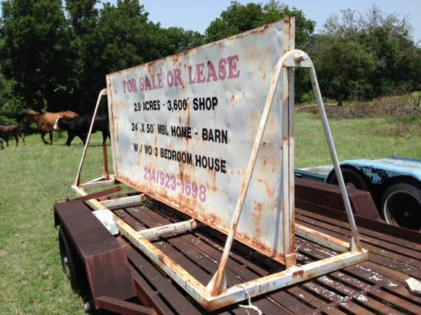 Used Sign Trailer
